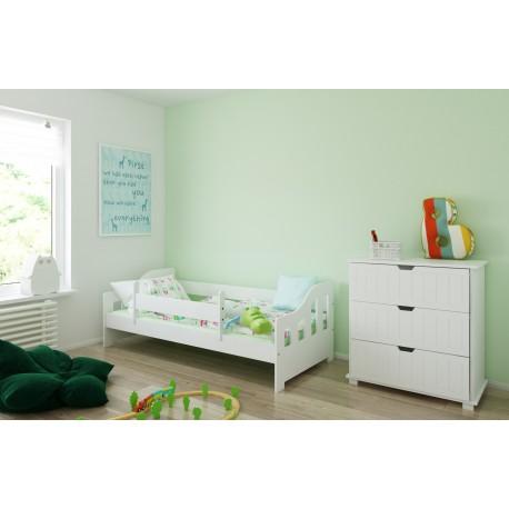 Кровать детская от 3х лет Каспер 2 с матрасом.