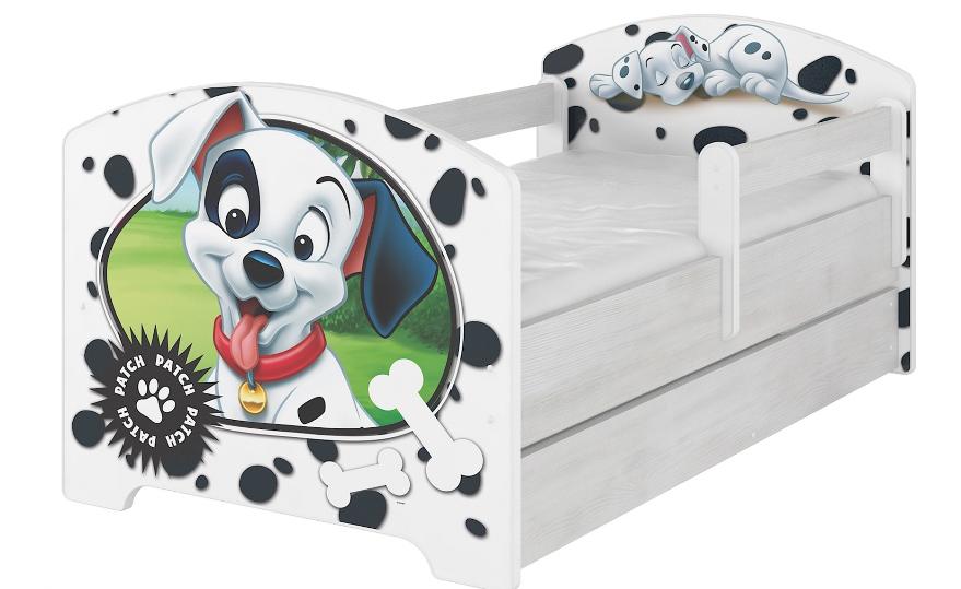 """Кровать детская с перилами Oskar X  Disney """"101 далматинец""""."""