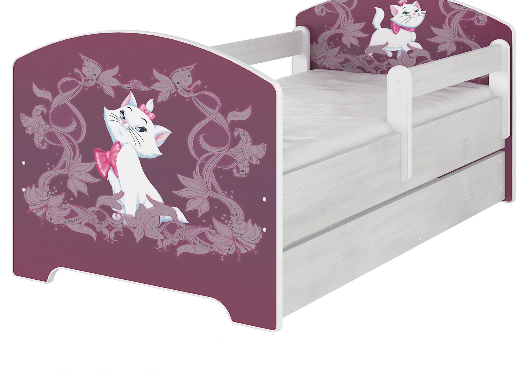 """Кровать детская Oskar Disney """"Мари"""" с ящиком и матрасом."""