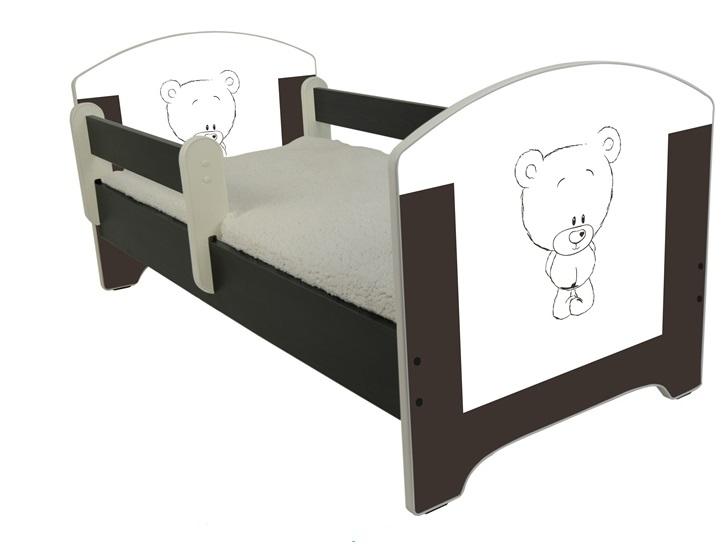 """Кровать детская от года Oskar   """"Шоколадный мишка"""" с матрасом."""