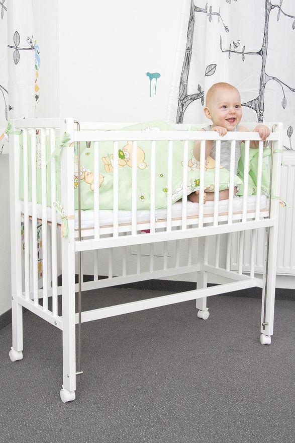 Приставная кроватка для новорожденных Fillikid Cocon белая.