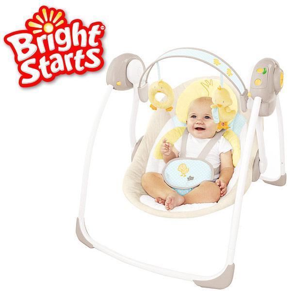 Детские электронные качели Bright Starts Уточка BS10241.