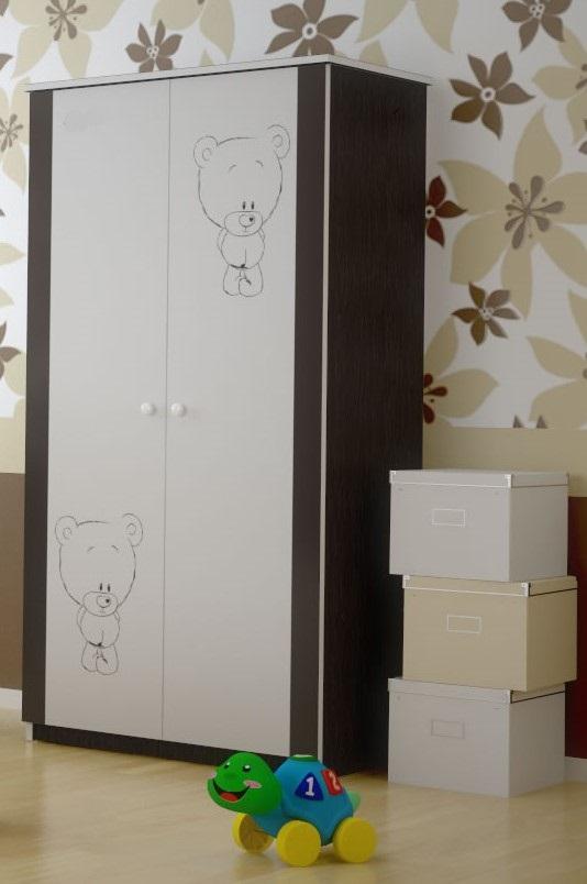 Шкаф в детскую серия Оскар Шоколадный мишутка.