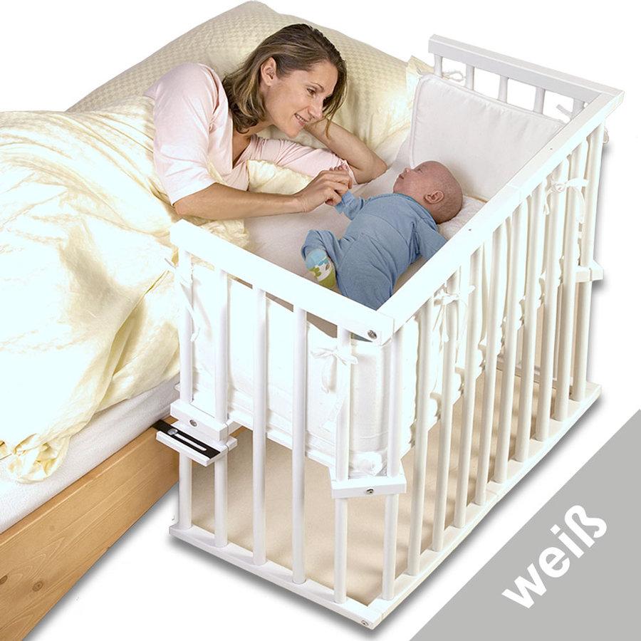 Приставная кроватка TOBI BABYBAY MIDI (белая).