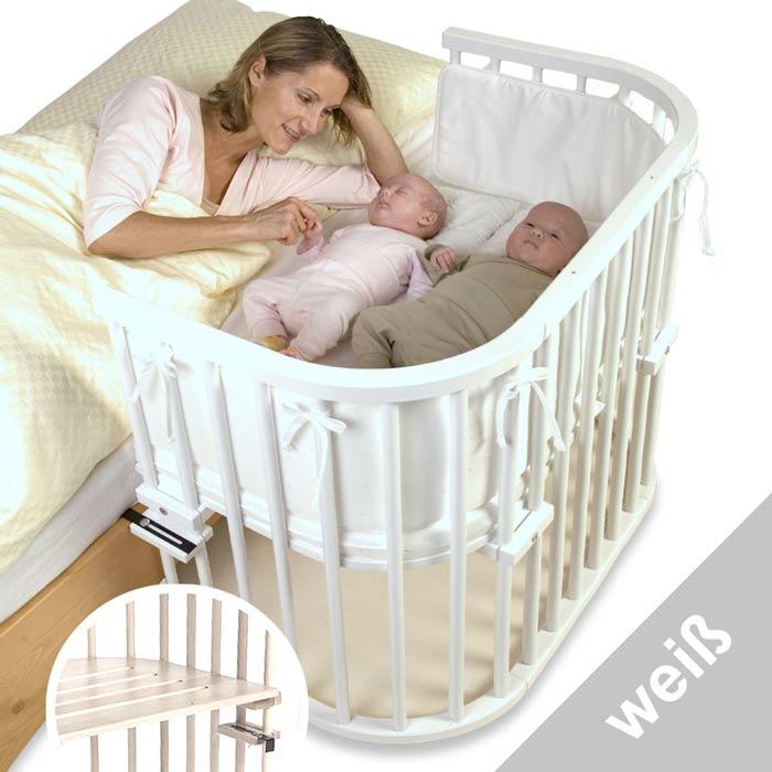 Приставная кроватка TOBI BABYBAY MAXI белая.