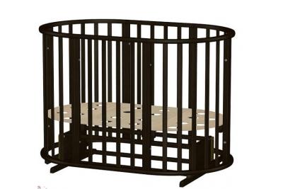 Кроватка Оливия New 3 в 1 Круглая/Овальная с маятником  (Венге).