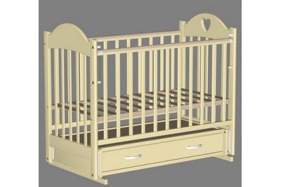 Кроватка для новорожденного Таисия-3 слоновая кость.