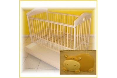 Детская кроватка Drewex Hippo с подкроватным ящиком