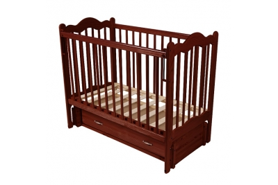 Детская кроватка  Дюймовочка цвет орех темный.