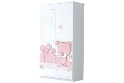 Шкаф в детскую серия Оскар Розовый мишутка.