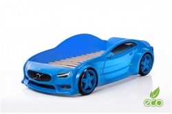 """Детская кровать-машина EVO """"Вольво"""" синяя."""