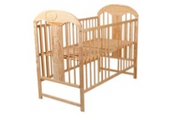 Кроватка детская Bocian Юлия колесо+качалка  цвет: темный орех