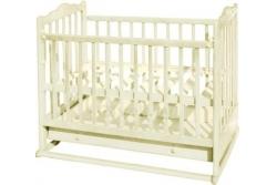 Кроватка детская Эстель 6 : колесо, качалка, ящик цвет :слоновая кость, белая, темная.