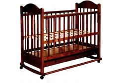 Кроватка детская Эстель 7 (слоновая кость, темная, орех)