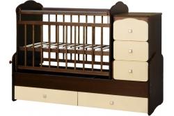 Детская кроватка трансформер СКВ 930038-9 цвет венге/беж.