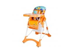 Стульчик для кормления Bambino Fly цвет orange, beige, brown.