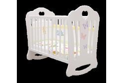 """Детская кроватка Laluca  Шарлотта """"Бабочки"""" (базовая)."""