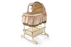 Детская колыбель для новорожденного Milly Mally Sweet Melody Brown.