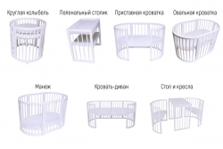 Детская кроватка круглая/овальная Sleepy 8 в 1.