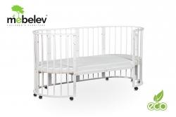 Детская кроватка Sleepy 8 в 1 круглая, овальная с маятником.