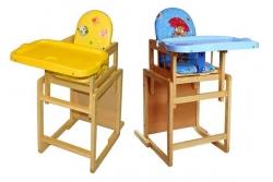 """Стульчик для кормления """"Тотошка"""" (цвет синий/ желтый)."""