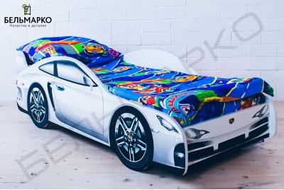 Детская кровать в виде машины PORSCHE.