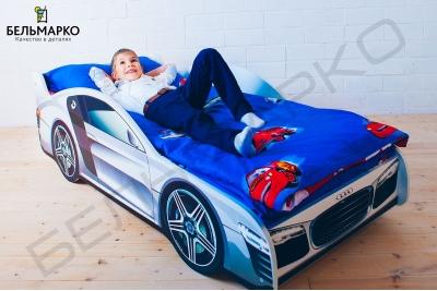 Детская кровать в виде машины AUDI.