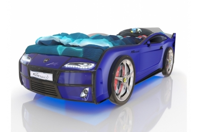 Кровать машина Romack Kiddy  Ferrari blue (синий) с подсветкой фар и дна