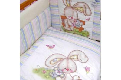 Комплект в кроватку Золотой Гусь 7 Радужный Бежевый 1163