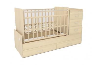 Детская кроватка-трансформер СКВ 534035 цвет береза.