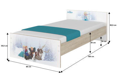 """Кровать детская с перилами MAX """"Минни модница""""+матрас."""