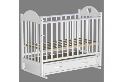 Кроватка для новорожденного Таисия-3 белая.
