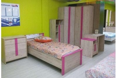Кровать подростковая Скаут фуксия