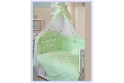 Комплект в кроватку Золотой Гусь 7 Сабина салатовый 1414