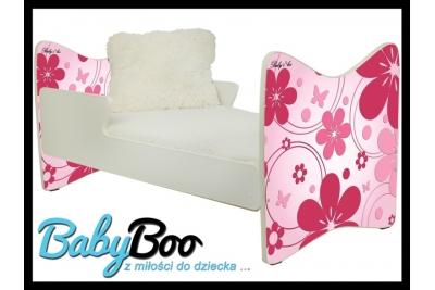 """Кровать подростковая JUNIOR PLUS """"Розовые цветы"""" 180x90   с матрасом."""