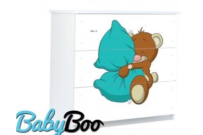 Комод детский серия Оскар Мишка с подушкой.