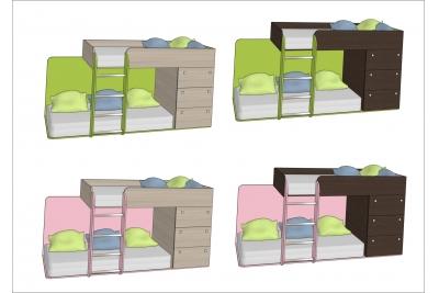 Кровать двухъярусная Leo1 ц 1.2.
