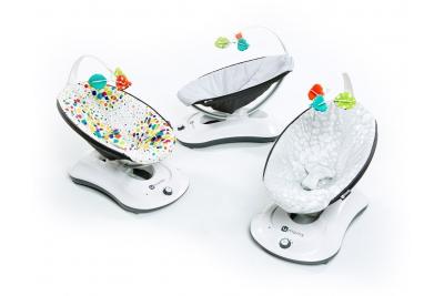Детские электронные качели - шезлонг 4Moms RockaRoo Silver Plush.