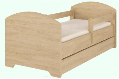 Кровать детская с перилами Oskar X (светлый дуб).