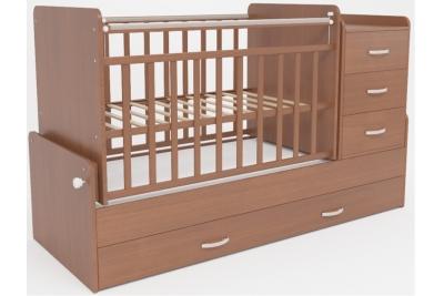 Детская кроватка-трансформер СКВ 534037 цвет орех.