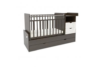 Детская кроватка-трансформер СКВ 550038-1 цвет венге-белый