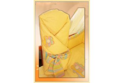 Конверт-одеяло FLOWERS розовый желтый голубой салатовый