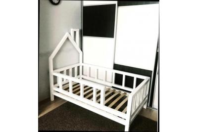 Кровать домик арт. B-B/01 с бортиками (сосна)