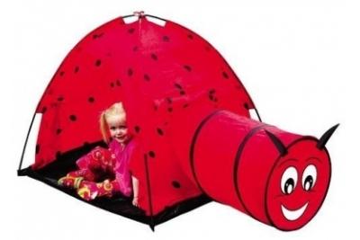 """Игровой домик-палатка с тунеллем """"Божья коровка"""" IPLAY"""