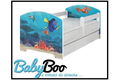"""Кровать детская с перилами Oskar X  Disney """"Немо и Дори""""."""