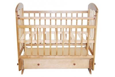 Кроватка детская Эстель 8 : поперечный маятник с ящиком, РФ Цвет:белый, слоновая кость, сосна.