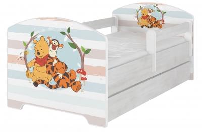 """Кровать детская модель Оскар коллекция Дисней """"Винни Пух"""" с ящиком и матрасом."""