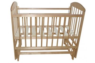 Кроватка детская Эстель 9 : поперечный маятник без ящика, РФ : Белый, Светлый.