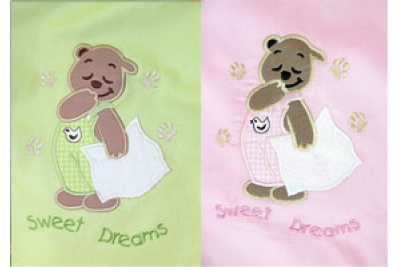 Конверт-одеяло SWEET DREAM (мишка с подушкой))