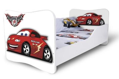"""Кровать детская от 3-х лет Nobiko 160x80 без шуфлядки """"Blue car"""""""